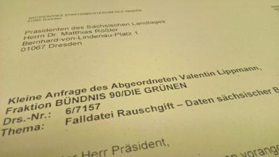 """Kleine Anfrage """"Falldatei Rauschgift"""""""